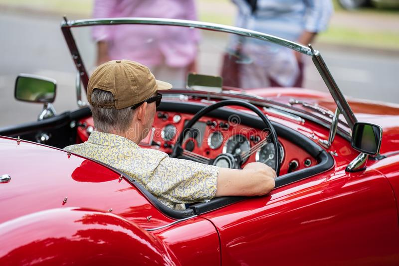 Bedford, Bedfordshire, UK. June 2, 2019. Festival of Motoring.The MGA is a sports car that was produced by MG,1956 stock image