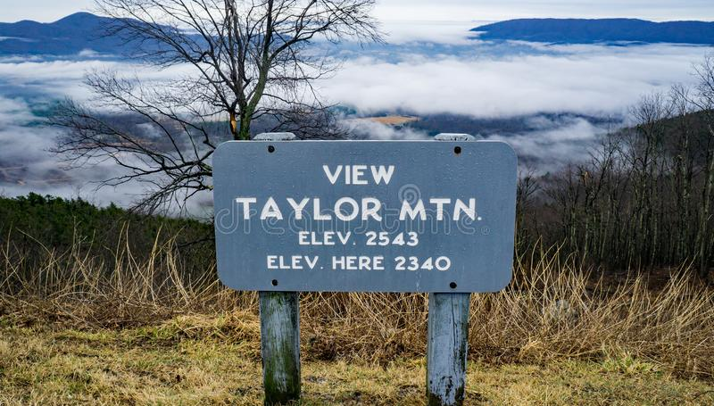 A View of Taylor Mountain and Foggy Valley royalty free stock images