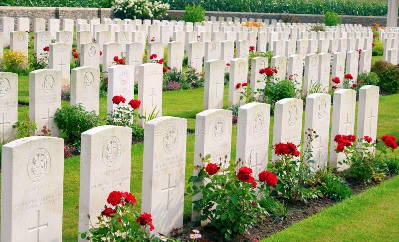 Bedford House Cemetery-wereldoorlog één Ypres Flander België royalty-vrije stock foto's