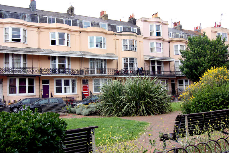 Bedford Square Brighton. A regency square in the city in Brighton, Sussex, England stock photos