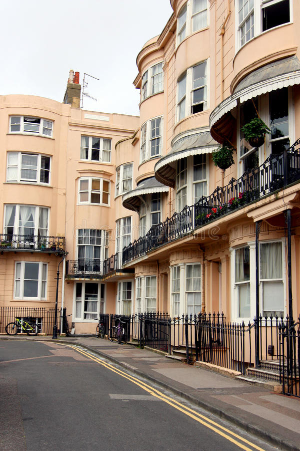Bedford Square Brighton. A regency square in the city in Brighton, Sussex, England stock images