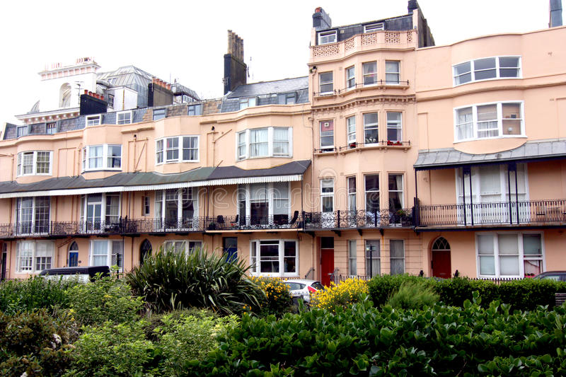 Bedford Square Brighton. A regency square in the city in Brighton, Sussex, England royalty free stock photography