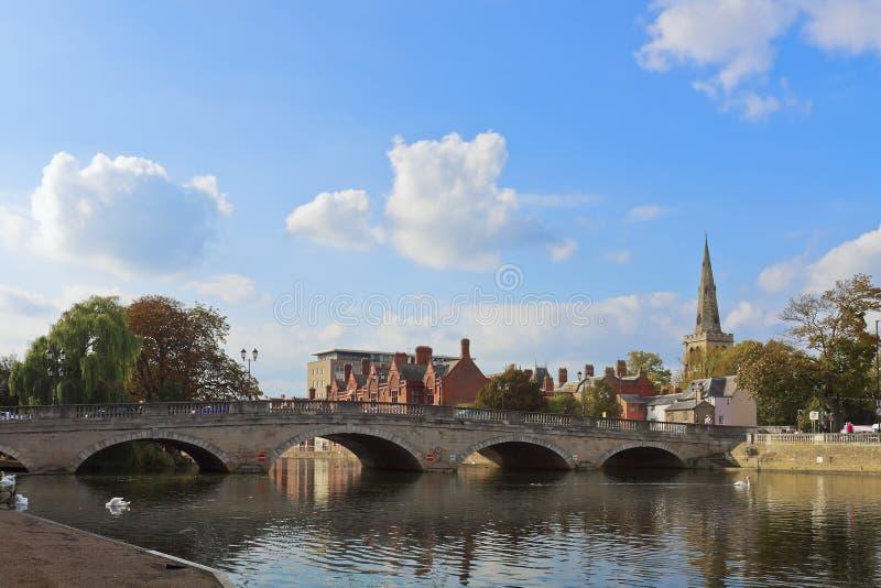 Bedford-Stadtbrücke lizenzfreies stockfoto