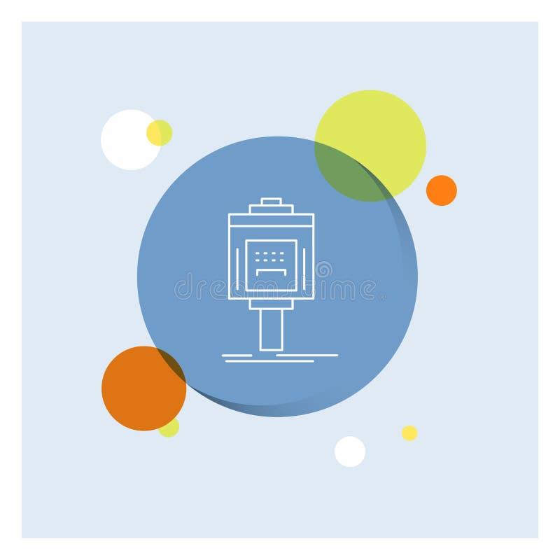 bediende, parkeren, de dienst, hotel, Achtergrond van de het Pictogram kleurrijke Cirkel van de vallei de Witte Lijn stock illustratie