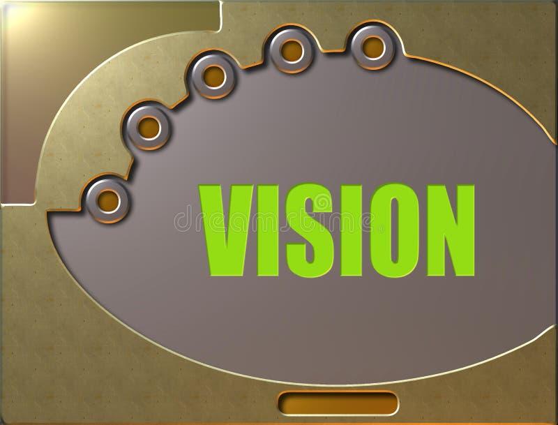 Bedienfeldvision vektor abbildung