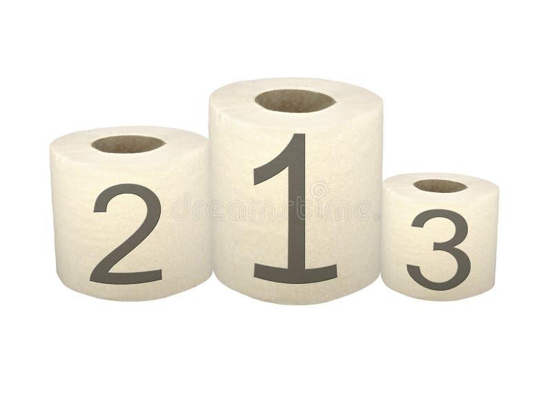 Bedienpult des Toilettenpapiers stockbild
