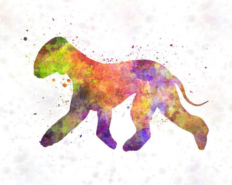 Bedlington Terrier in watercolor vector illustration