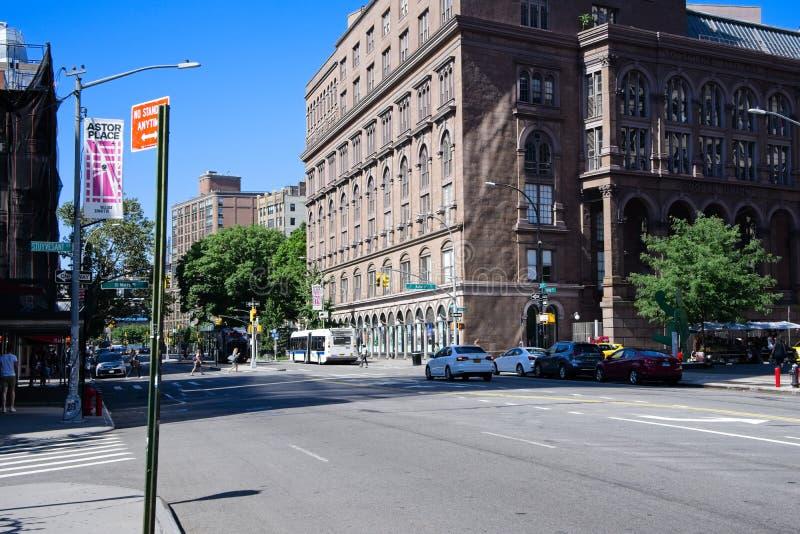 Bednarza zjednoczenie w east village NYC zdjęcie royalty free