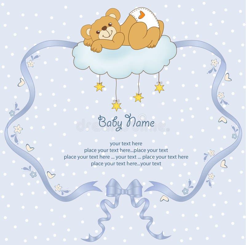 Bedorven teddybeer stock illustratie