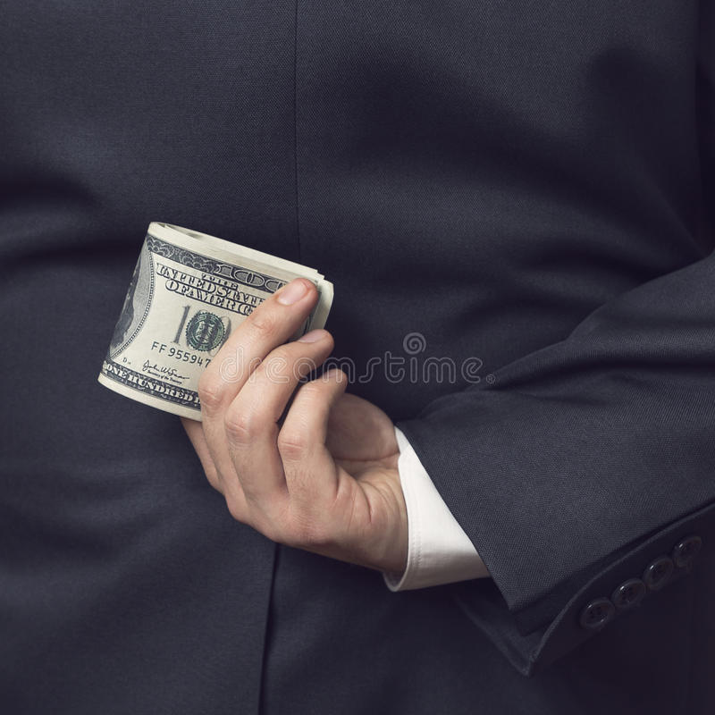 Bedorven zakenman royalty-vrije stock fotografie