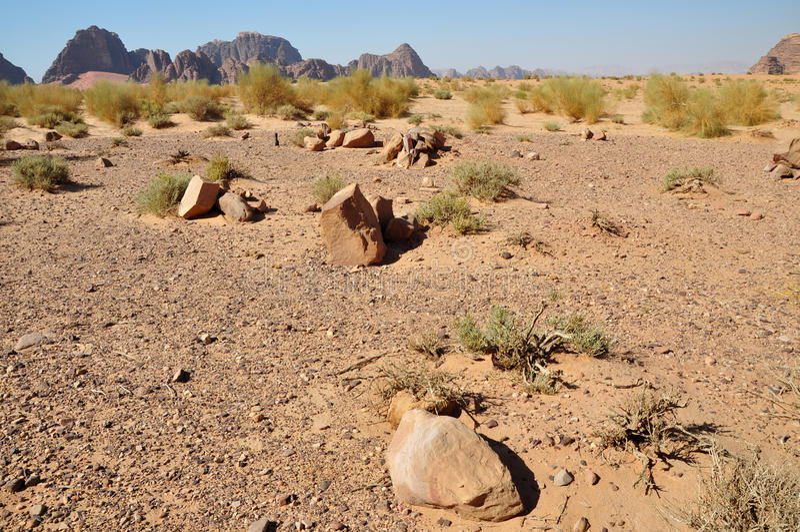 Bedouin burial ground stock images