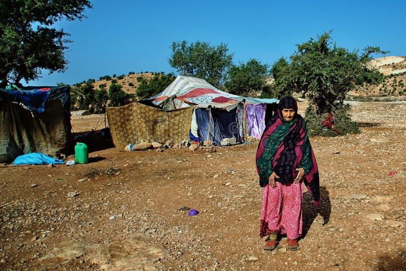 Bedouin Elderly Woman stock images