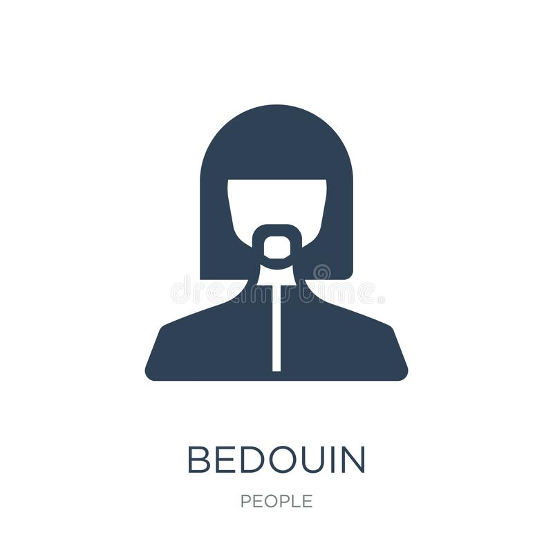 Bedouin icon in trendy design style. bedouin icon isolated on white background. bedouin vector icon simple and modern flat symbol. For web site, mobile, logo stock illustration