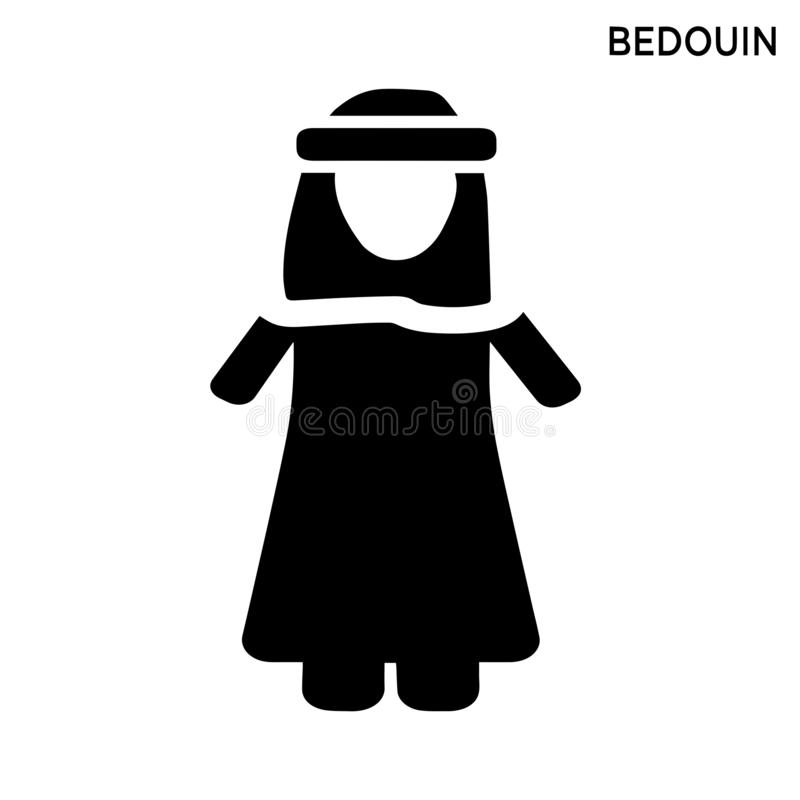 Bedouin icon people concept simple element. Bedouin icon white background simple element illustration people concept royalty free illustration