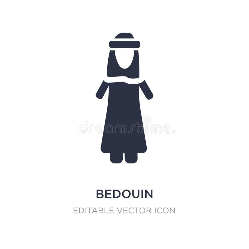 Bedouin icon on white background. Simple element illustration from People concept. Bedouin icon symbol design vector illustration