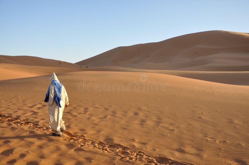 Bedouin nel deserto di Sahara immagine stock