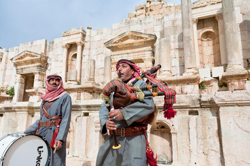 Download Bedouin Plays On Bagpipes In Jerash Editorial Stock Photo - Image: 23745318