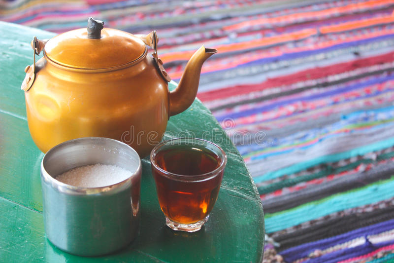 Bedouin Tea royalty free stock images