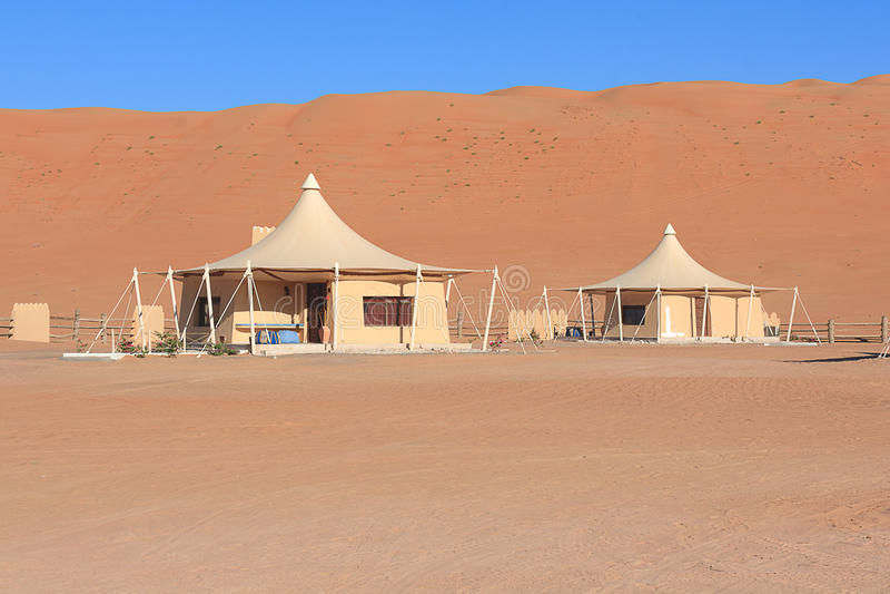 Bedouin Tenten in Oman royalty-vrije stock afbeeldingen