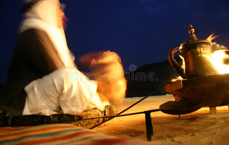 Bedouin tribesman royalty free stock photo