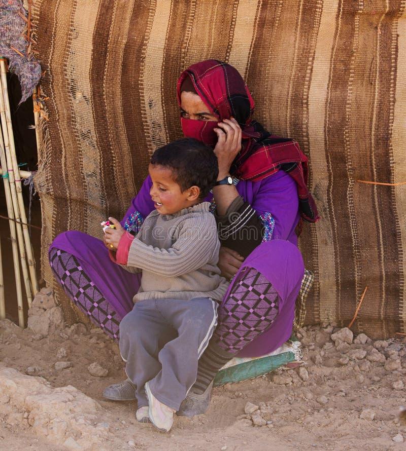 Bedouin vrouw royalty-vrije stock afbeelding