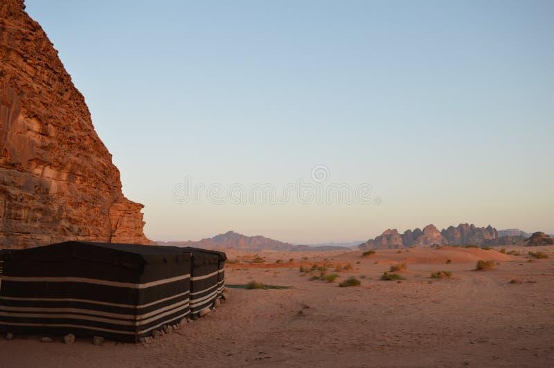 Bedouine-Zelte Wadi Rum Jordan stockfoto