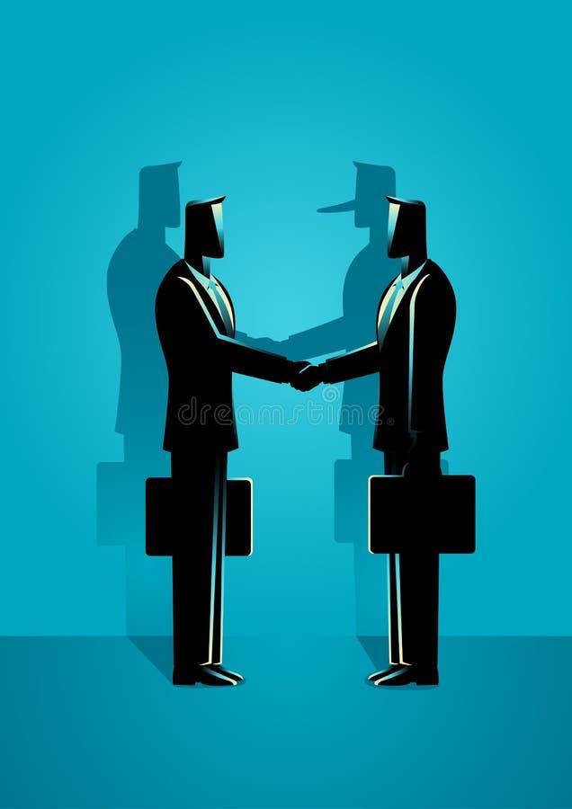 Bedrägeriöverenskommelsebegrepp royaltyfri illustrationer