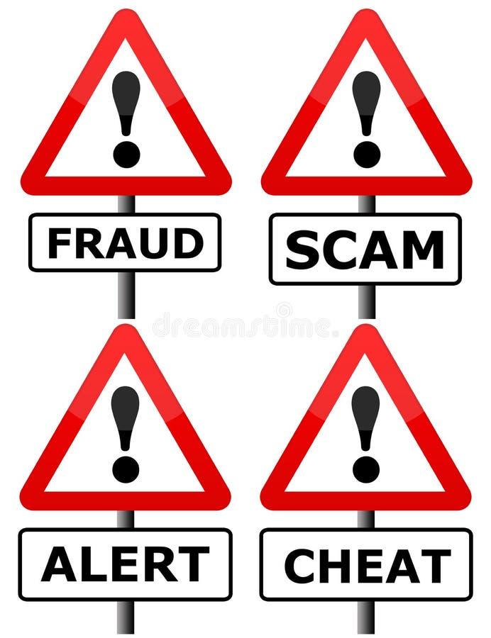 Bedrägeri royaltyfri illustrationer