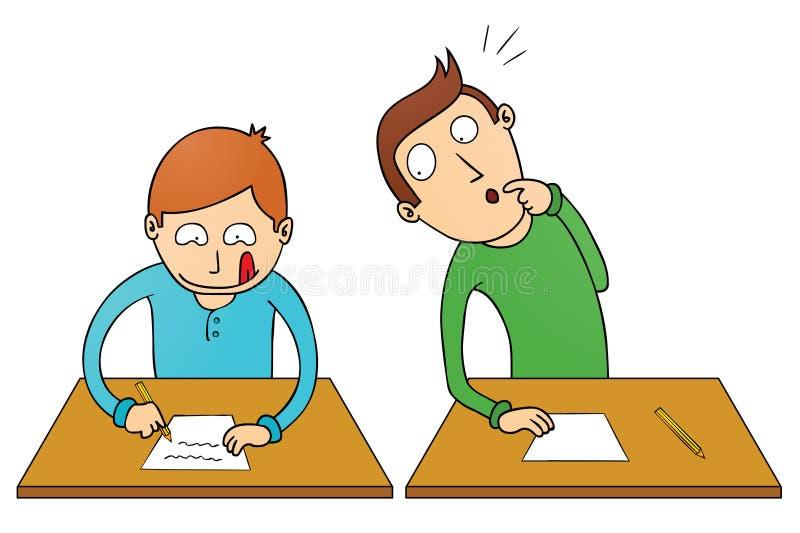 Bedriegende student vector illustratie