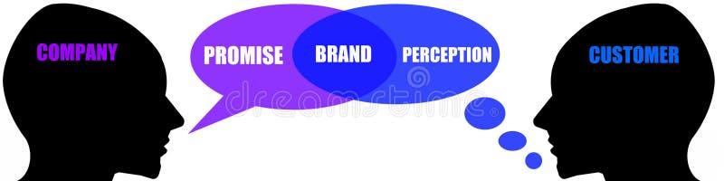 Bedrijf en klant royalty-vrije illustratie