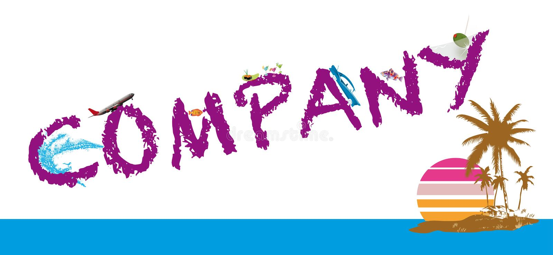 Bedrijf Logo Vector stock foto