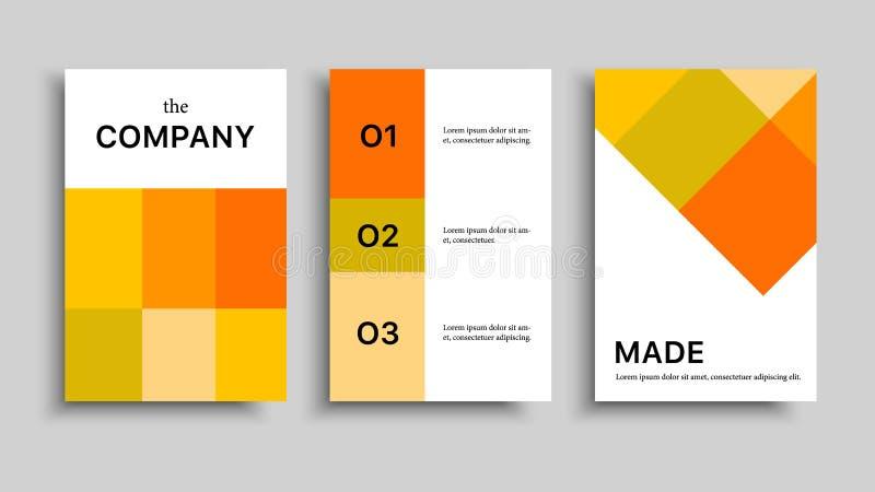 Bedrijf-ontwerp-brochure-geel royalty-vrije illustratie