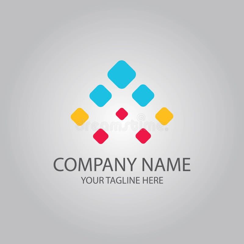 Bedrijf van het pijl het omhoog vierkante embleem royalty-vrije illustratie