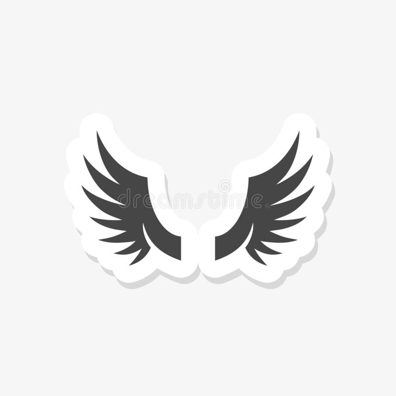 Bedrijf van het vleugelembleem, pictogramvleugel die, de sticker van de adelaarsvleugel het vliegen royalty-vrije illustratie