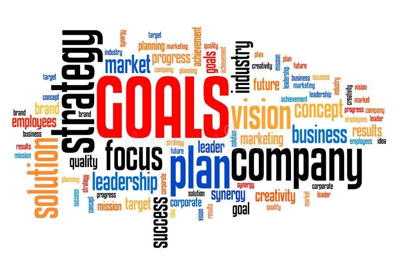 Bedrijfdoelstellingen stock illustratie