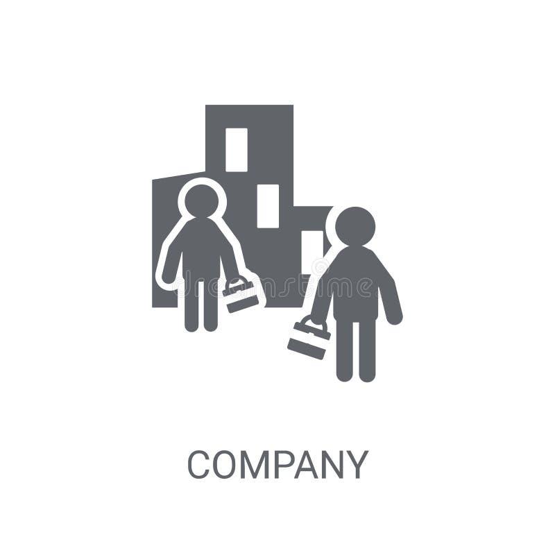 Bedrijfpictogram Het in concept van het Bedrijfembleem op witte achtergrond Fr vector illustratie
