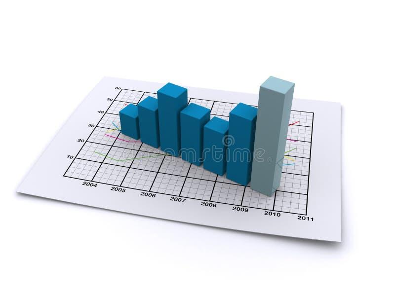Bedrijfs 3d grafiek vector illustratie