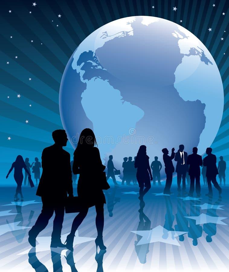 Bedrijfs aarde royalty-vrije illustratie