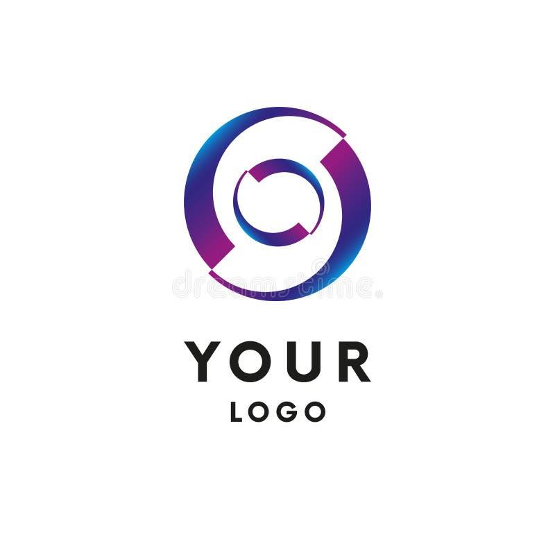 Bedrijfs Abstract Cirkelembleem logotype Vector vector illustratie