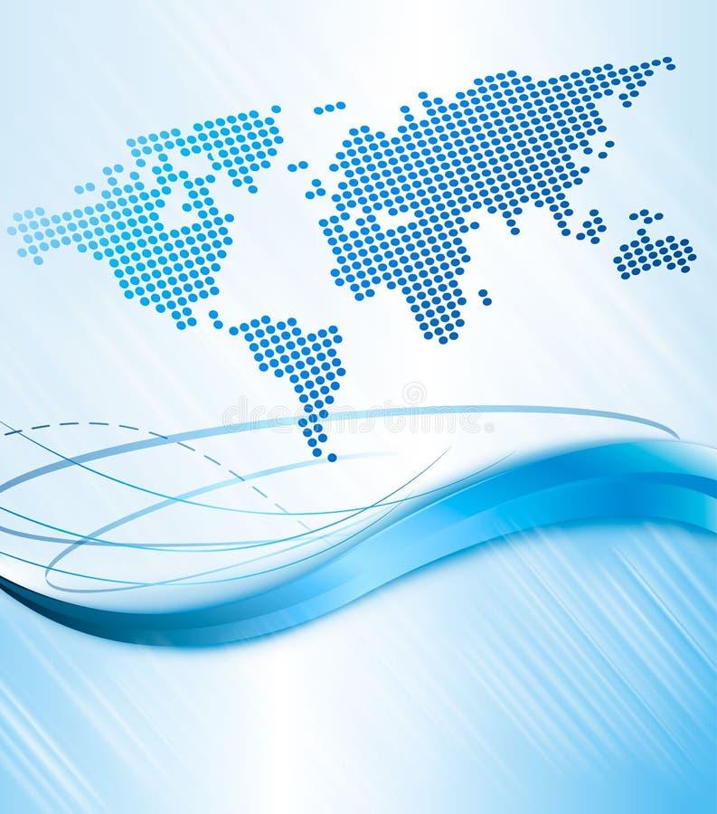 Bedrijfs abstracte achtergrond met wereldkaart. Vect vector illustratie