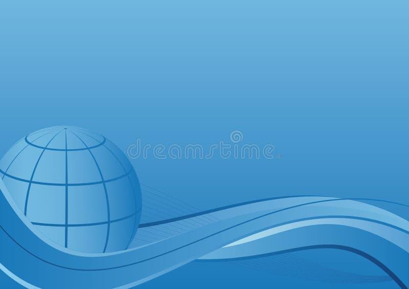 Bedrijfs achtergrond - Bol met golven   stock illustratie