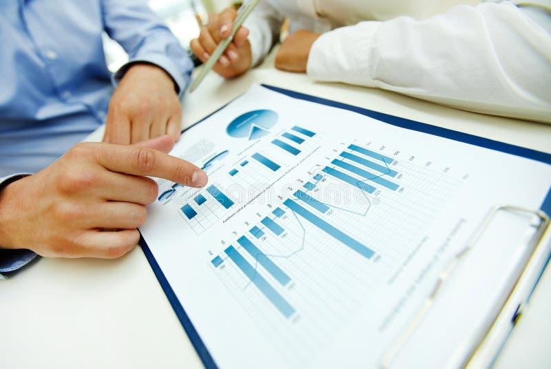 Bedrijfs analyse stock foto