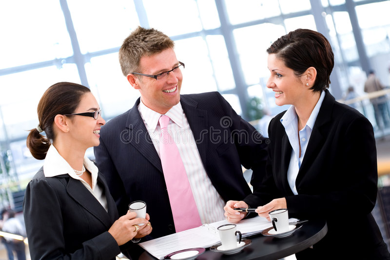 Bedrijfs bespreking stock afbeelding