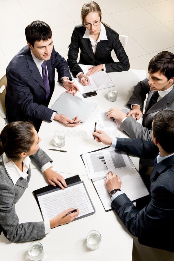 Bedrijfs briefing royalty-vrije stock foto's
