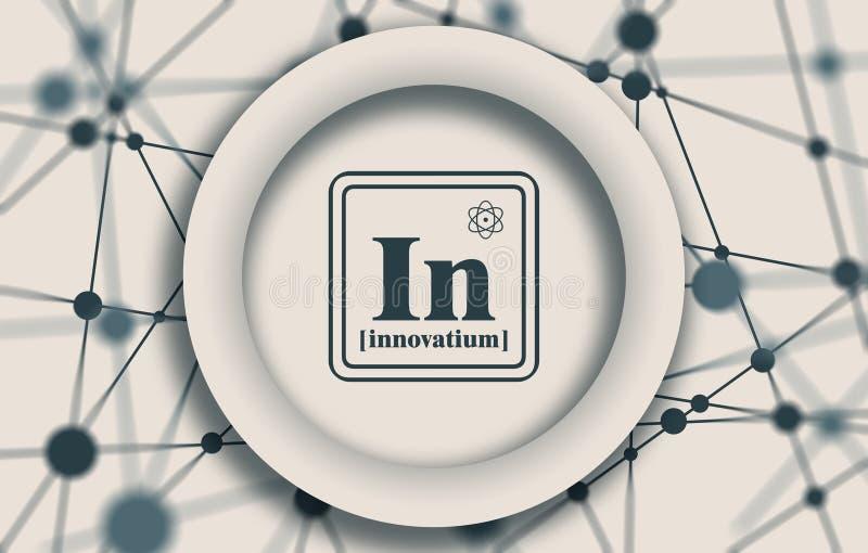 Bedrijfs chemisch element royalty-vrije illustratie