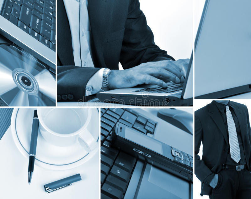 Bedrijfs collage stock illustratie