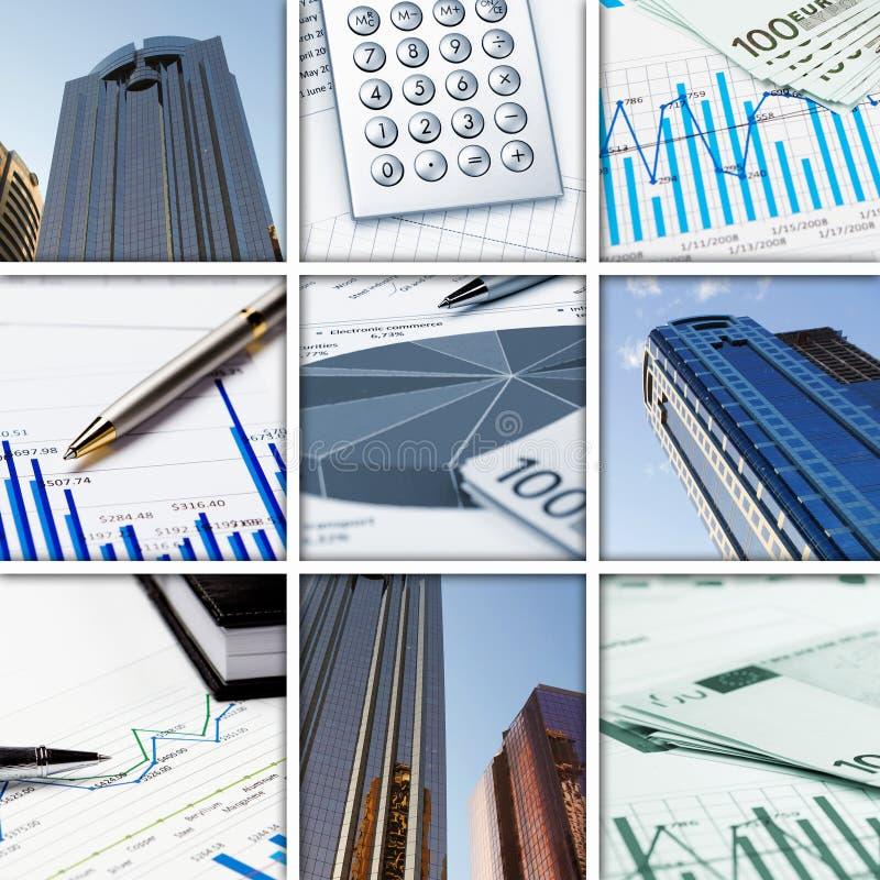 Bedrijfs collage van sommige bedrijfsbeelden stock afbeeldingen
