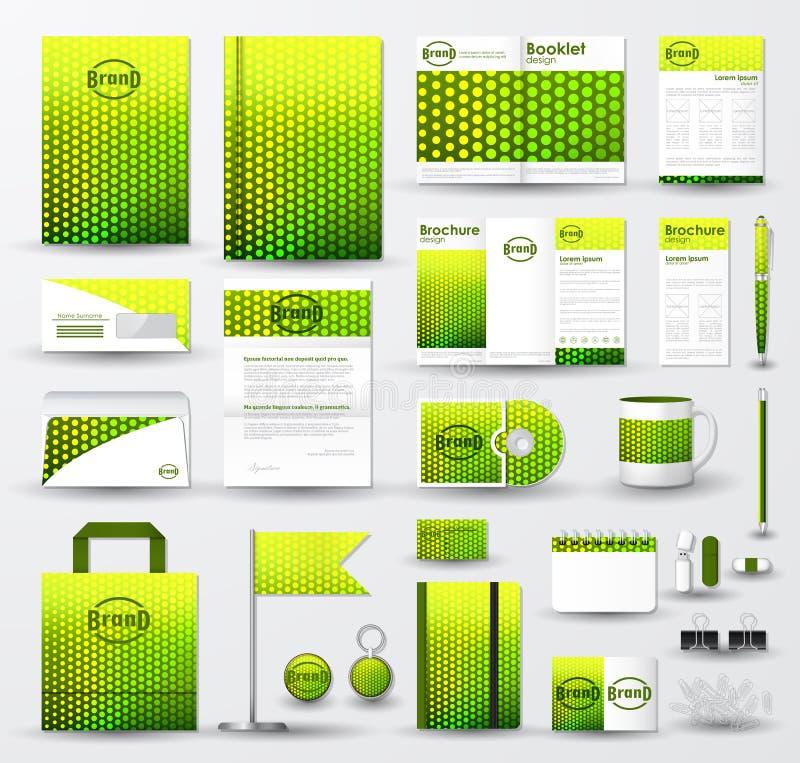 Bedrijfs collectief die identiteitsmalplaatje met embleem wordt geplaatst vector illustratie