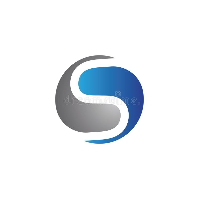 Bedrijfs collectief S brievenembleem vector illustratie