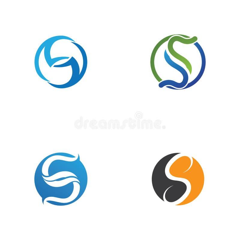 Bedrijfs collectief S brievenembleem stock illustratie